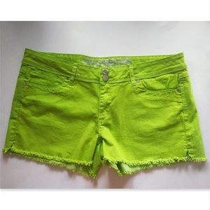 Express Neon Green Plus Size 14 Shorts